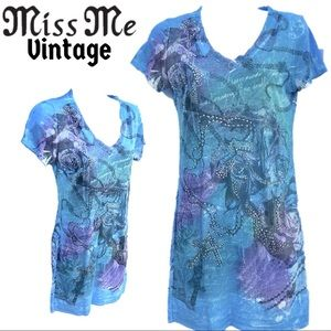 Vintage Miss Me rhinestone dress